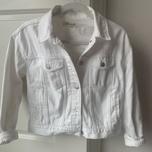 Madewell White Denim Jacket. Size small